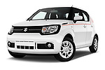 Stock pictures of low aggressive front three quarter view of 2017 Suzuki Ignis GL 5 Door Hatchback Low Aggressive
