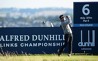 Y.E.Yang of Korea tees off during Round 2 of the 2015 Alfred Dunhill Links Championship at the Old Course, St Andrews, in Fife, Scotland on 2/10/15.<br /> Picture: Richard Martin-Roberts | Golffile