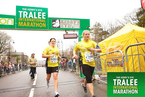 Marie Carty 1088,Mary Walsh 1774, who took part in the Kerry's Eye Tralee International Marathon on Sunday 16th March 2014.