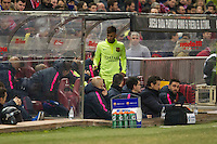 Barcelona´s Neymar da Silva during 2014-15 Spanish King Cup match between Atletico de Madrid and Barcelona at Vicente Calderon stadium in Madrid, Spain. January 28, 2015. (ALTERPHOTOS/Luis Fernandez) /nortephoto.com<br />