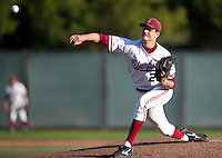 STANFORD, CA - April 15, 2011: Mark Appel of Stanford baseball pitches during Stanford's game against Oregon State at Sunken Diamond. Stanford lost 1-0.