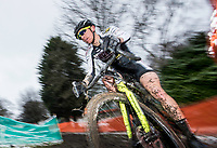 Picture by Allan McKenzie/SWpix.com - 10/12/17 - Cycling - HSBC UK National Cyclo-Cross Championships - Round 5, Peel Park - Bradford, England - Braam Merlier (Steylaerts-Betfirst) on his way to taking his first victory in the National Cyclo-Cross championships at Bradford.