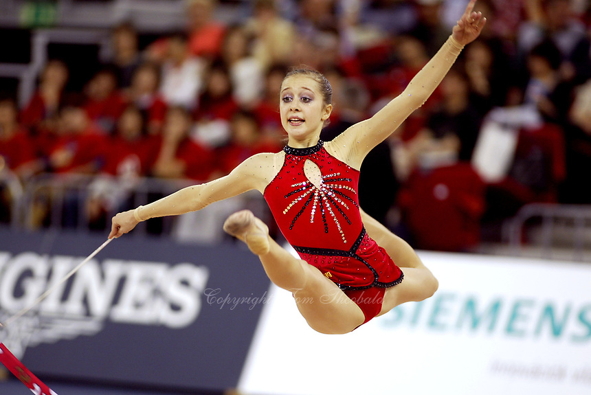 September 27, 2003; Budapest, Hungary; SYLVIA MITEVA of Bulgaria performs with hoop at 2003 World Championships.
