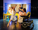 London, UK. 05.10. 2015. FALLING IN LOVE WITH FRIDA, by Caroline Bowditch, opens in the Lilian Baylis Studio, at Sadler's Wells. Picture shows: Nicole Strain, Caroline Bowditch (front), Welly O'Brien, Yvonne Strain (back).  Photograph © Jane Hobson.
