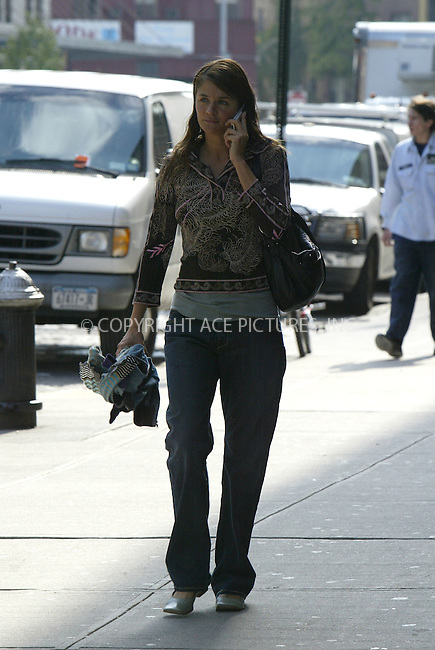 WWW.ACEPIXS.COM ** ** ** ..NEW YORK, OCTOBER 4, 2004: Model Helena Christensen seen having conversation on cell phone while walking around in West Village. Please byline: Philip Vaughan -- ACE PICTURES... *** ***  ..Ace Pictures, Inc:  ..Alecsey Boldeskul (646) 267-6913 ..Philip Vaughan (646) 769-0430..e-mail: info@acepixs.com..web: http://www.acepixs.com