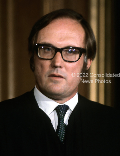 "Associate Justice of the United States Supreme Court William H. Rehnquist, photographed at the Supreme Court in Washington, D.C. on Monday, April 24, 1972.  Rehnquist was appointed in 1971 by U.S. President Richard M. Nixon.  He later served as Chief Justice of the United States from September 26, 1986 until his death on September 3, 2005..Credit: Benjamin E. ""Gene"" Forte / CNP"