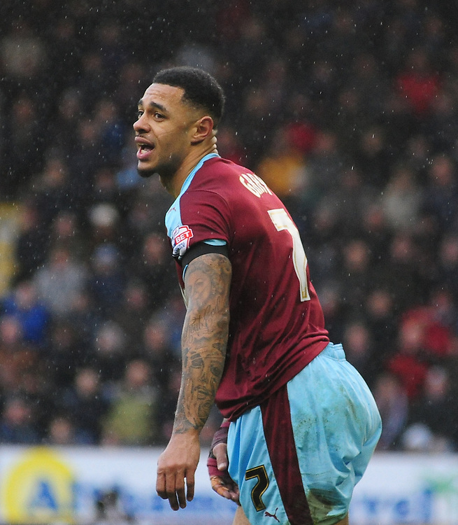 Burnley&rsquo;s Andre Gray<br /> <br /> Photographer Chris Vaughan/CameraSport<br /> <br /> Football - The Football League Sky Bet Championship - Burnley v Hull City - Saturday 6th February 2016 - Turf Moor - Burnley <br /> <br /> &copy; CameraSport - 43 Linden Ave. Countesthorpe. Leicester. England. LE8 5PG - Tel: +44 (0) 116 277 4147 - admin@camerasport.com - www.camerasport.com