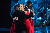 Mahershala Ali presents the Oscar&reg; for performance in a Supporting Role to Allison Janney for her role in &quot;I Tonya&quot; during the live ABC Telecast of The 90th Oscars&reg; at the Dolby&reg; Theatre in Hollywood, CA on Sunday, March 4, 2018.<br /> *Editorial Use Only*<br /> CAP/PLF/AMPAS<br /> Supplied by Capital Pictures