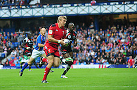 Wales's Jevon Groves scores his sides first try <br /> <br /> Kenya Vs Wales - men's placing 5-8 match<br /> <br /> Photographer Chris Vaughan/CameraSport<br /> <br /> 20th Commonwealth Games - Day 4 - Sunday 27th July 2014 - Rugby Sevens - Ibrox Stadium - Glasgow - UK<br /> <br /> © CameraSport - 43 Linden Ave. Countesthorpe. Leicester. England. LE8 5PG - Tel: +44 (0) 116 277 4147 - admin@camerasport.com - www.camerasport.com