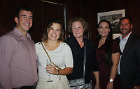 NWA Democrat-Gazette/CARIN SCHOPPMEYER John Kimball (from left), Jayme Craig, Anita Craig and Tawny and Ryan Sumrall enjoy Read Between the Wines.
