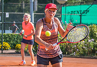 Etten-Leur, The Netherlands, August 27, 2017,  TC Etten, NVK, Woman's doubles Lucienne van den Broek / Karien Theeuwes<br /> Photo: Tennisimages/Henk Koster