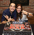 Jonathan Gould and Lori Eve Marinacci attends the 'School of Rock' Celebrates Two Years on Broadway at the Brazen Tavern in New York City.
