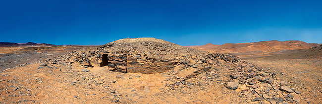 A prehistoric northern Sahara burial tumuli in the hills 20km east of Taouz, Morocco
