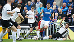 Lee Wallace cuts inside from the left wing