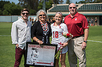 STANFORD, CA - April 19, 2015: The Stanford Cardinal Women's Lacrosse team vs the USC Trojans at Stanford University. Final score, Stanford Cardinal  12, USC Trojans 6.