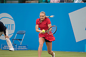 June 10th 2017,  Nottingham, England; WTA Aegon Nottingham Open Tennis Tournament day 1; Tereza Martincova of The Czech Republic in action in her match against Freya Christie of Great Britain