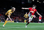 Paddy McNair of Manchester United turns Luke Chadwick of Cambridge Utd - FA Cup Fourth Round replay - Manchester Utd  vs Cambridge Utd - Old Trafford Stadium  - Manchester - England - 03rd February 2015 - Picture Simon Bellis/Sportimage