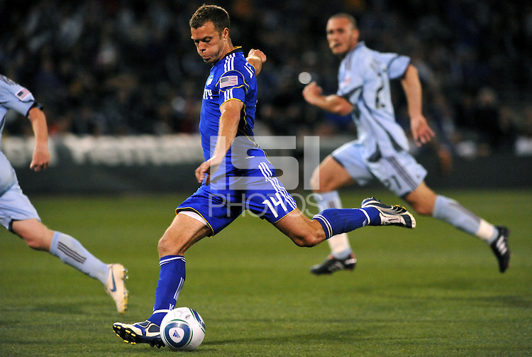 Jack Jewsbury...Kansas City Wizards defeated Colorado Rapids 1-0 at Community America Ballpark, Kansas City,Kansas.