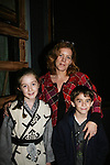 Liz Keifer poses with her daughter Isabella and son and Isabella is in the play 7 Samurai - December 7 - December 19, 2009 at the Phillipstown Depot Theatre, Garrison, New York. (Photo by Sue Coflin/Max Photos
