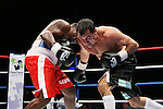 One Last Round, Jeff Fenech v Azuma Nelson Fight Night..Melbourne, Vodafone Arena 24-6-08.Jeff Fenech ducks an Azuma Nelson left..Photo: Grant Treeby