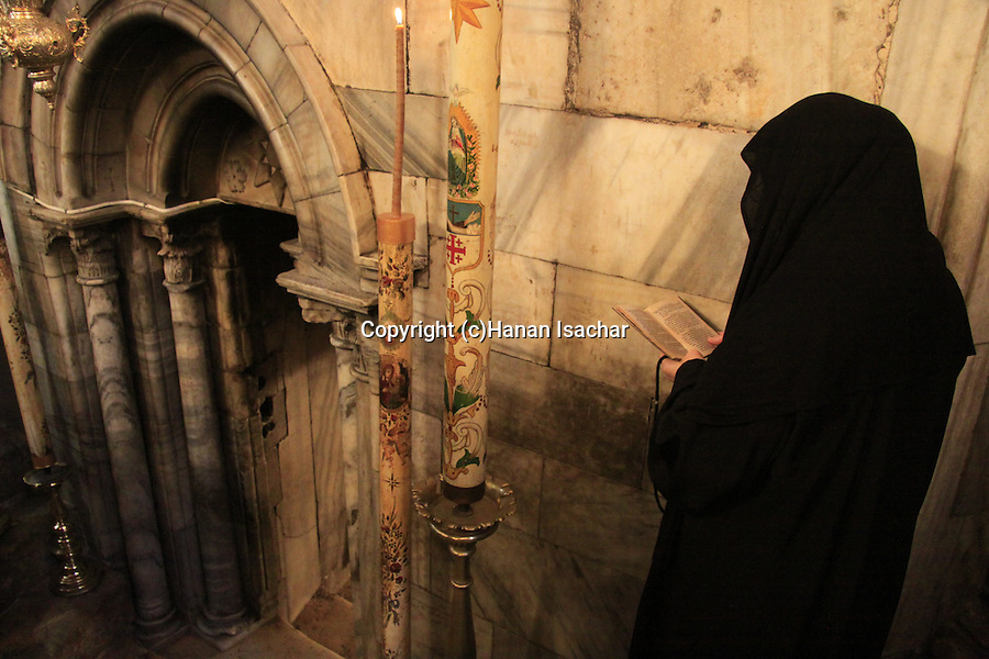 Bethlehem, a prayer by the Grotto of the Nativity at the Church of the Nativity