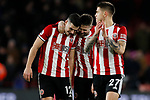John Egan and Oliver Norwood of Sheffield United embrace during the Premier League match at Bramall Lane, Sheffield. Picture date: 10th January 2020. Picture credit should read: James Wilson/Sportimage