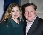 Christine Lindsay-Abaire and David Lindsay-Abaire attending the Broadway Opening Night Performance of 'IF/THEN' at the Richard Rodgers Theatre on March 30, 2014 in New York City.