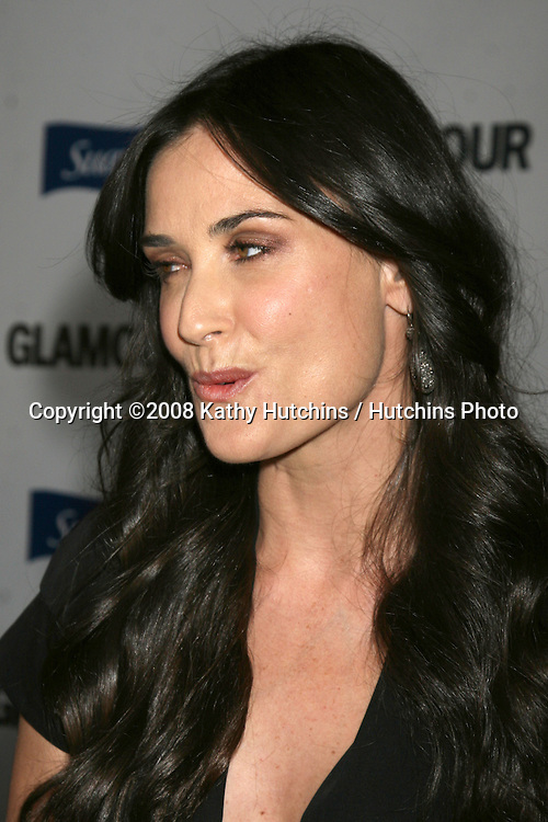 "Demi Moore  arriving at the ""Glamour Reel Moments"" Premieres of a Series of Short Films Written & Directed by Women in Hollywood at the Director's Guild Theater in Los Angeles, CA.October 14, 2008.©2008 Kathy Hutchins / Hutchins Photo...                ."