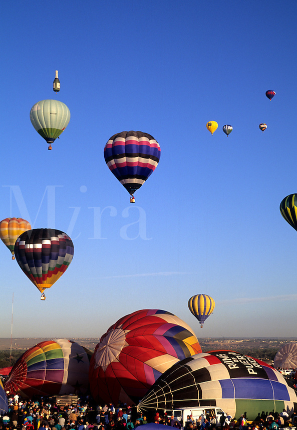 Hot air balloons festival, Albuquerque, New Mexico. Largest balloon festival in the world called Paint the Sky