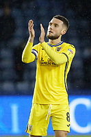 Matt Grimes of Swansea City thanks away supporters after the Sky Bet Championship match between Sheffield Wednesday and Swansea City at Hillsborough Stadium, Sheffield, England, UK. Saturday 09 November 2019