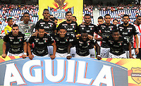 BARRANQUILLA  -COLOMBIA, 17-09-2016. Formación del  Once Caldas  contra el Junior   durante encuentro  por la fecha 13 de la Liga Aguila II 2016 disputado en el estadio Metropolitano Roberto Meléndez ./Team of   Once Caldas   during macth  against of  Junior during match for the date 13 of the Aguila League II 2016 played at Metropolitano Roberto Melendez stadium . Photo:VizzorImage / Alfonso Cervantes  / Contribuidor