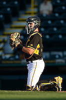 Bradenton Marauders catcher Reese McGuire (7) during a game against the Charlotte Stone Crabs on April 22, 2015 at McKechnie Field in Bradenton, Florida.  Bradenton defeated Charlotte 7-6.  (Mike Janes/Four Seam Images)