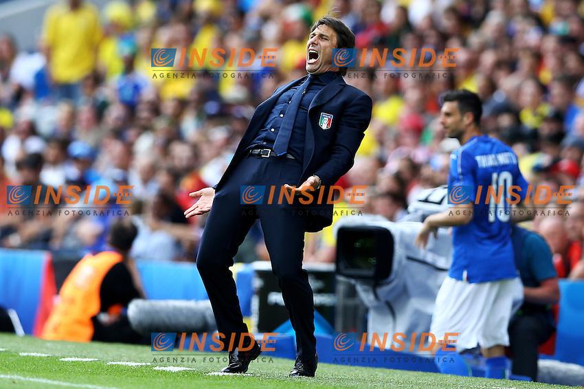 Antonio Conte Italia <br /> Toulouse 17-06-2016 Stade de Toulouse <br /> Football Euro2016 Italy - Sweden / Italia - Svezia Group Stage Group E<br /> Foto Matteo Ciambelli / Insidefoto