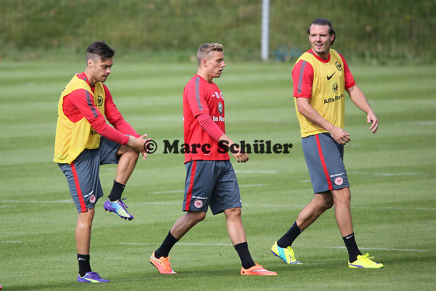Vaclav Kadlec, Sonny Kittel, Alex Meier (Eintracht) - Eintracht Frankfurt Training, Commerzbank Arena