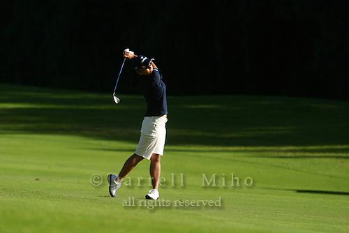 February 16, 2006 - Kahuku, HI - Ai Miyazato hits an approach shot during Round 1 of the LPGA SBS Open at Turtle Bay Resort...Photo: Darrell Miho