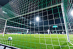 11.02.2018, Weserstadion, Bremen, GER, 1.FBL, SV Werder Bremen vs VfL Wolfsburg<br /> <br /> im Bild<br /> Spielball rollt nach Torschuss von Florian Kainz (Werder Bremen #7) (nicht im Bild) zum 3:1 ins Tor, aufgenommen mit remote / Hintertorkamera, <br /> <br /> Foto &copy; nordphoto / Ewert