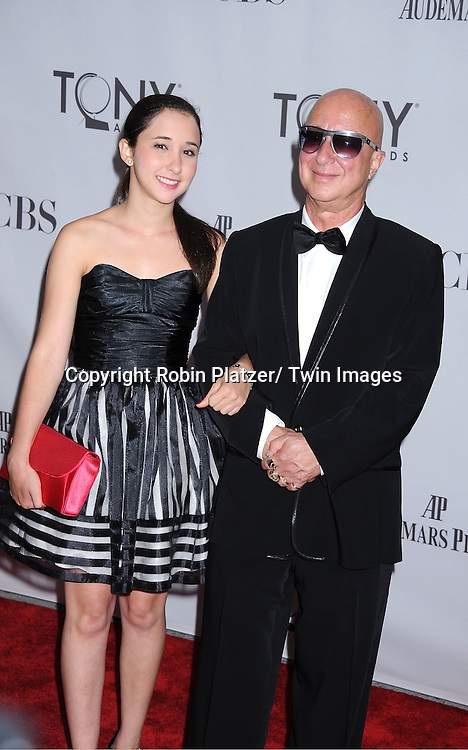 Paul Schaeffer and daughter Victoria attending the 65th Annual Tony Awards at the Beacon Theatre in New York City on June 12, 2011.