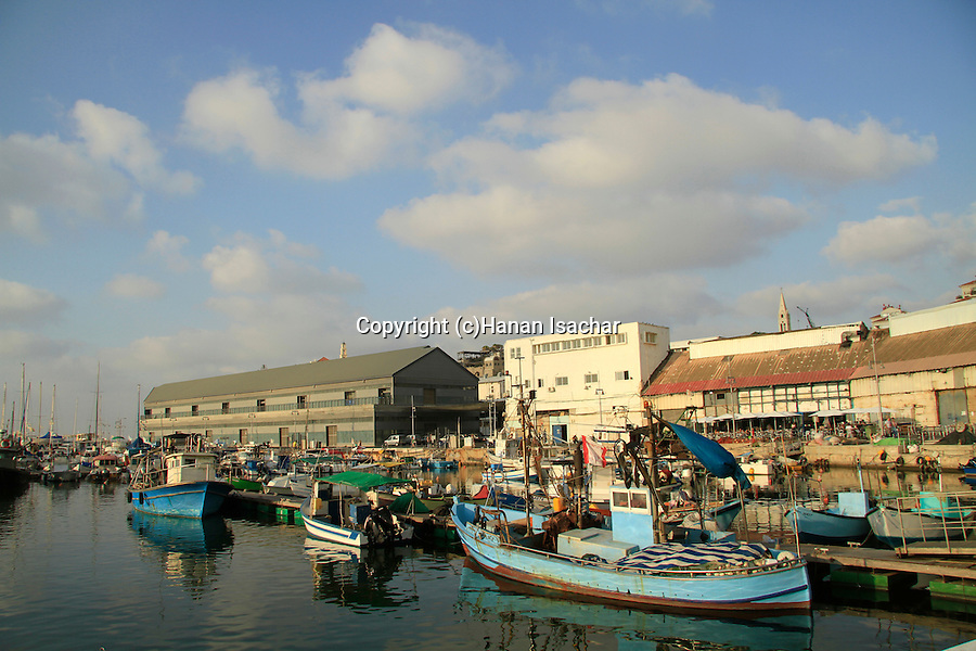 Israel, fishing boats in Jaffa's port