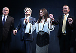 Donald Holder, Elliot Goldenthal, Julie Taymor and Ma Cong during the Broadway Opening Night performance Curtain Call for 'M. Butterfly' on October 26, 2017 at Cort Theater in New York City.