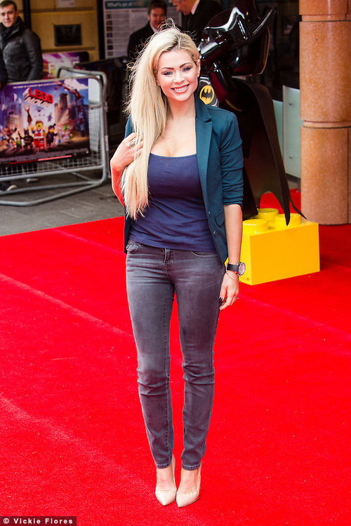 Nicola McLean attends the UK Premiere of The Lego Movie at the Vue West End in Leicester Square, London on February 9th, 2014.