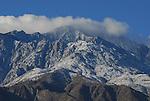 San Jacinto Mountains with snow