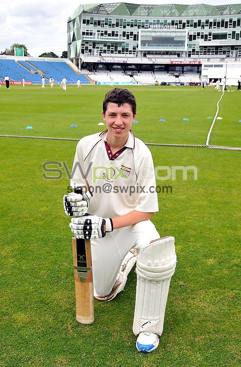 PICTURE BY OSKAR VIEROD/SWPIX.COM - Cricket - Yorkshire Post Cricket Challenge 2011 - Headingley, Leeds, England - 25/07/11 - Easingwold's Matthew Fisher (aged 13).