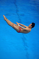 China's Luxian Wu during the warm up session<br /> <br /> Photographer Hannah Fountain/CameraSport<br /> <br /> FINA/CNSG Diving World Series 2019 - Day 1 - Friday 17th May 2019 - London Aquatics Centre - Queen Elizabeth Olympic Park - London<br /> <br /> World Copyright © 2019 CameraSport. All rights reserved. 43 Linden Ave. Countesthorpe. Leicester. England. LE8 5PG - Tel: +44 (0) 116 277 4147 - admin@camerasport.com - www.camerasport.com