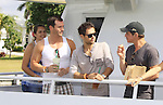 Actors -  Eric Martsolf, Erik Valdez, Christian LeBlanc at SoapFest's Celebrity Weekend - Cruisin' and Schmoozin' on the Marco Island Princess - mix and mingle and watching dolphins - autographs, photos, live auction raising money for kids on November 11, 2012 Marco Island, Florida. (Photo by Sue Coflin/Max Photos)