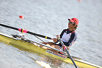 Poznan, POLAND,   USA LW1X, Meghan SARBANIS, competing in the heats of the women's lightweight single scull on the first day of the, 2009 FISA World Rowing Championships. held on the Malta Rowing lake, Sunday 23/08/2009 [Mandatory Credit. Peter Spurrier/Intersport Images]