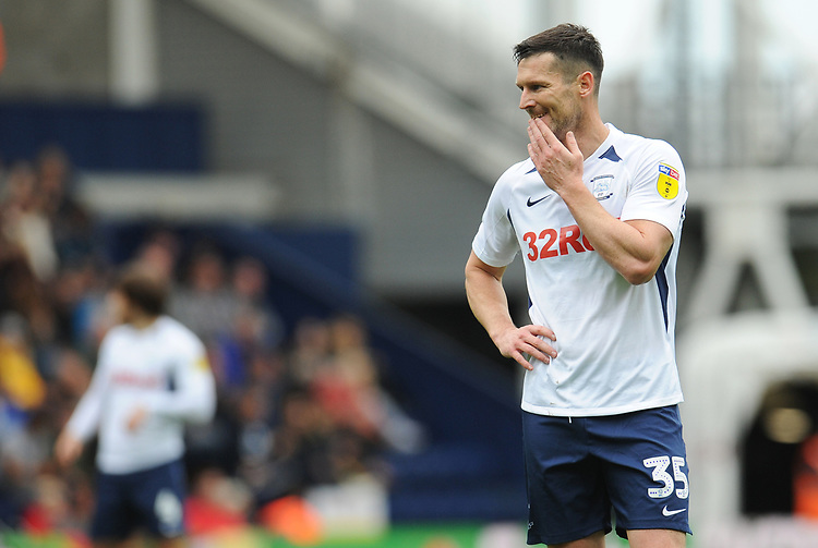Preston North End's David Nugent<br /> <br /> Photographer Kevin Barnes/CameraSport<br /> <br /> The EFL Sky Bet Championship - Preston North End v Barnsley - Saturday 5th October 2019 - Deepdale Stadium - Preston<br /> <br /> World Copyright © 2019 CameraSport. All rights reserved. 43 Linden Ave. Countesthorpe. Leicester. England. LE8 5PG - Tel: +44 (0) 116 277 4147 - admin@camerasport.com - www.camerasport.com