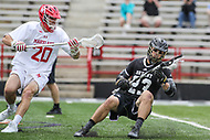 College Park, MD - May 14, 2017: Bryant Bulldogs Jake Buonaiuto (23) keeps his balance during the NCAA first round game between Bryant and Maryland at  Capital One Field at Maryland Stadium in College Park, MD.  (Photo by Elliott Brown/Media Images International)