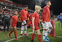 TORONTO, ON - OCTOBER 15: Christian Pulisic #10 and Weston McKennie #8 of the United States walk out during a game between Canada and USMNT at BMO Field on October 15, 2019 in Toronto, Canada.