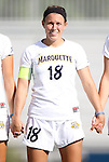 07 September 2012: Marquete's Rachael Sloan. The University of North Carolina Tar Heels defeated the Marquette University Golden Eagles 4-0 at Koskinen Stadium in Durham, North Carolina in a 2012 NCAA Division I Women's Soccer game.
