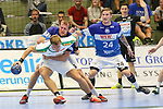 BHCs Max Darj (Nr.05) im Zweikampf im Spiel der Handballliga, Bergischer HC - SC DHFK Leipzig.<br /> <br /> Foto &copy; PIX-Sportfotos *** Foto ist honorarpflichtig! *** Auf Anfrage in hoeherer Qualitaet/Aufloesung. Belegexemplar erbeten. Veroeffentlichung ausschliesslich fuer journalistisch-publizistische Zwecke. For editorial use only.